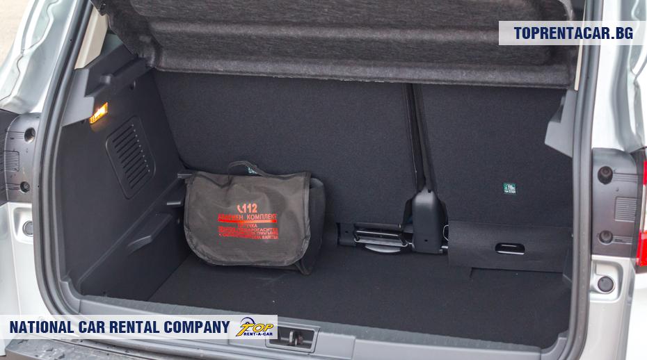 Renault Captur - ansicht der kofferraum