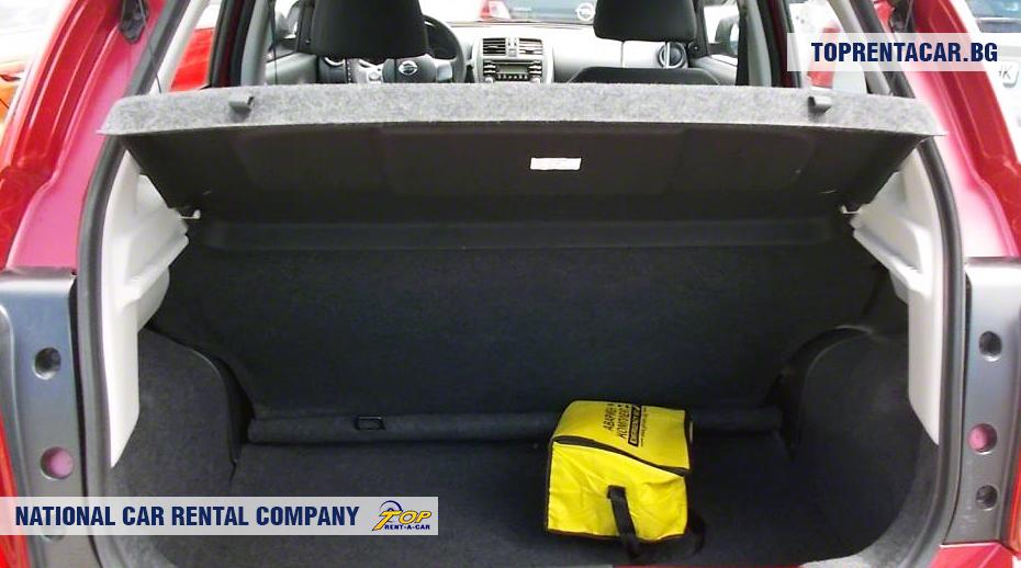 Nissan Micra - ansicht der kofferraum