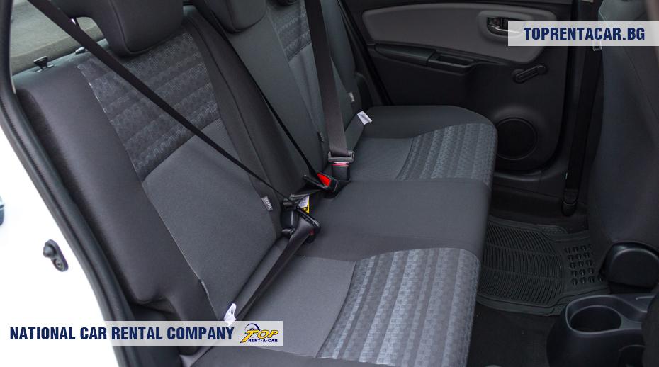 Toyota Yaris - Ansicht des Rücksitzes
