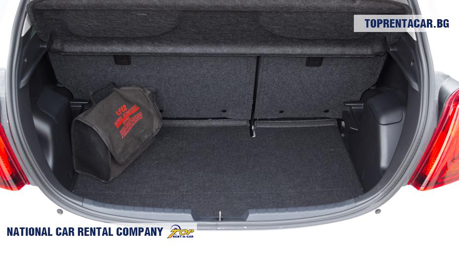 Toyota Yaris - ansicht der kofferraum