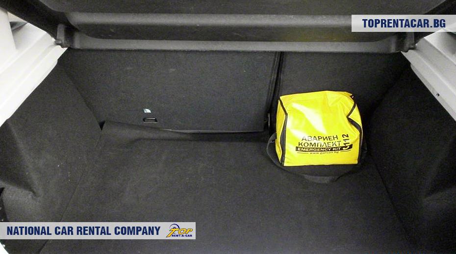 Dacia Sandero - ansicht der kofferraum